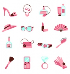 women objects icon vector image