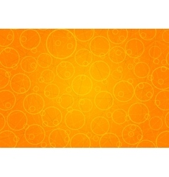 Abstract orange background with circles vector image vector image