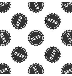 Beer bottle cap vector image