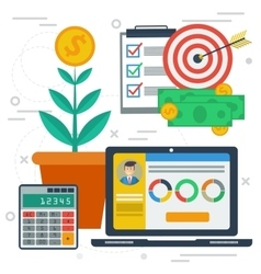 Concept of business growth vector image