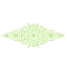 Decorative floral mandala border element vector