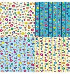 ditsy seamless pattern vector image vector image