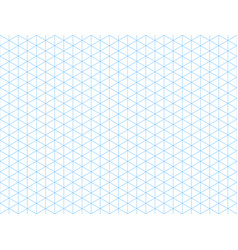 seamless isometric blue grid backdrop vector image vector image