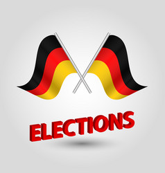 Icon of germany and red 3d title elections vector