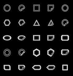 Label line icons on black background vector image vector image