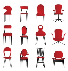 red chairs vector image