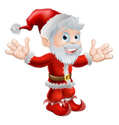 santa waving vector image