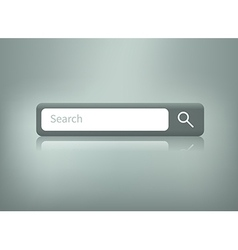 search button with reflection vector image