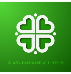 Stylized clover vector image