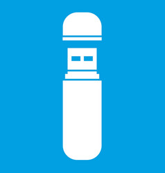 usb flash drive icon white vector image