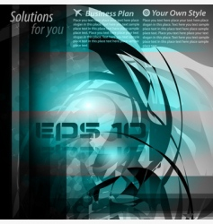 high tech abstract business background vector image