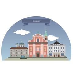 Ljubljana vector image vector image