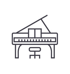 piano concert line icon sign vector image