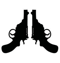 retro short revolvers vector image vector image