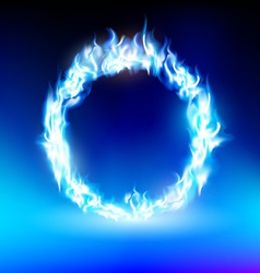 ring with a blue flame vector image