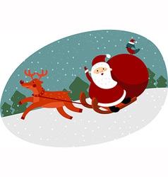 Santa with huge sack vector image vector image