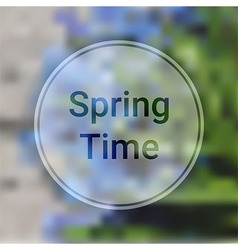 Spring Time Blurred Background with Blue Flowers vector image