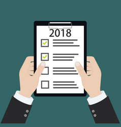 2018 new year resolution and target business vector image