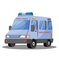 3d on white background of ambulance vehicle vector