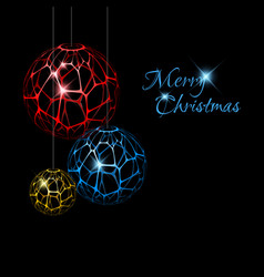 abstract christmas decorations vector image