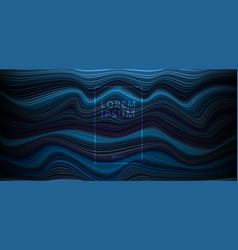 abstract dark blue background with horizontal vector image