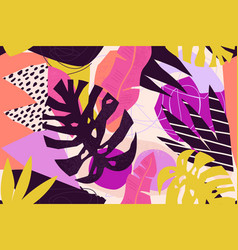 abstract modern tropical paradise collage with vector image