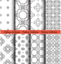 Backgrounds Floral Forged Hand Drawn vector image