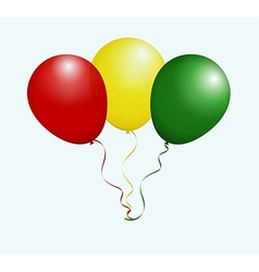 Balloons in as Guinea National Flag vector