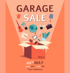 Banner template for a local garage and yard sale vector
