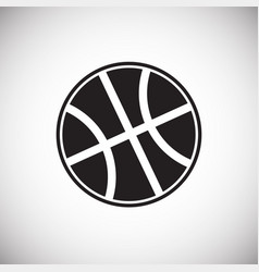 basketball ball on white background vector image