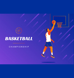 Basketball championship promo banners cover vector