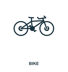 bike icon mobile app printing web site icon vector image
