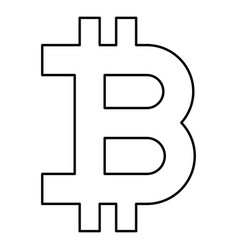 bitcoin icon black color flat style simple image vector image