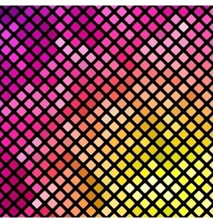 Bright pink and yellow mosaic vector
