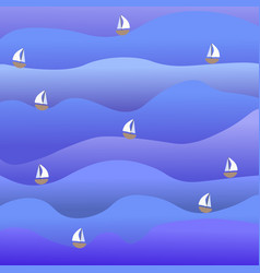 bright simple sea and boat vector image