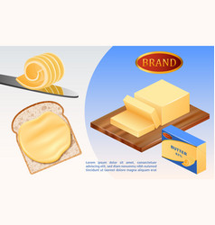 Butter milk concept background realistic style vector