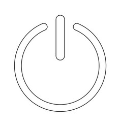 Button turn on or off icon the black color icon vector