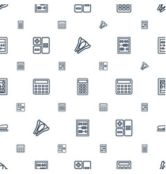 Calculator icons pattern seamless white background vector