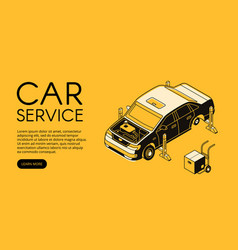 Car service repair station vector