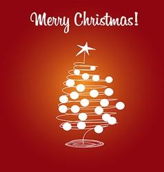 card christmas tree and balls vector image