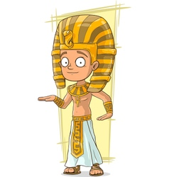 Cartoon Egyptian pharaon in golden vector image