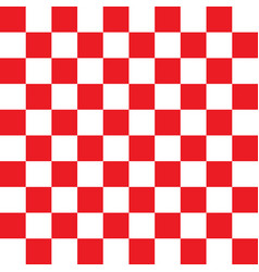 checkered red and white pattern vector image