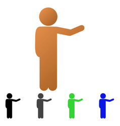 child show flat gradient icon vector image
