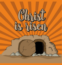 christ is risen vector image