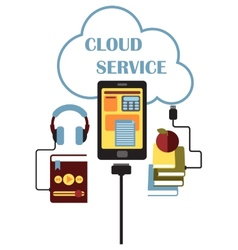 Cloud service concept vector