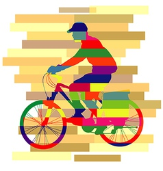 colourful of ride Bicycle vector image