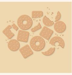 Crunchy crackers cookies flat vector