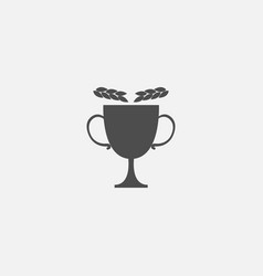 cup symbol icon for web in trendy style isolated vector image