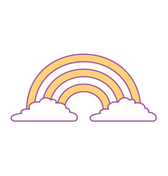cute rainbow cloud magic fantasy image vector image