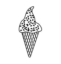 delicious ice cream cone vector image